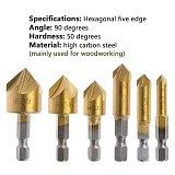 23-Pack Woodworking Chamfer Drilling Tool Countersink Drill Bits Wood Plug Cutter And Automatic