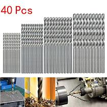 40Pcs Titanium Coated Drill Bits HSS High Speed Steel Drill Bits Set Tool 0.5-2.0mm HSS Power Tools