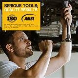 Hi-Spec 14pc Damaged Bolt Extractor Cr-Mo Steel Nut Screw Remover Threading Socket Tool  Hand Tool Kit 6.35 -19m in Tool Box