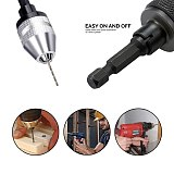 Vastar Keyless Drill Chuck 0.3-3.6mm Conversion Tool 1/4  Hex Shank Quick Change Adapter Chuck for Electric Drill