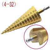 4-12mm 4-20mm 4-32mm Large HSS 4241 Steel Step Cone Drill Countersink Titanium Bit Set Hole
