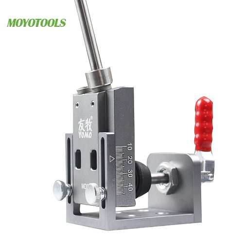 New upgrade toggle clamp Pocket Hole Jig locator with Step Drill Bit Carpenter woodworking Tools kit Push-pull clip Fast fix