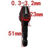 1Pc Mini Universal 1/4'' 0.3-3.2mm Keyless Drill Screwdriver Chuck Hexagonal Drill Adapter Converter With Rod Short/Long tail