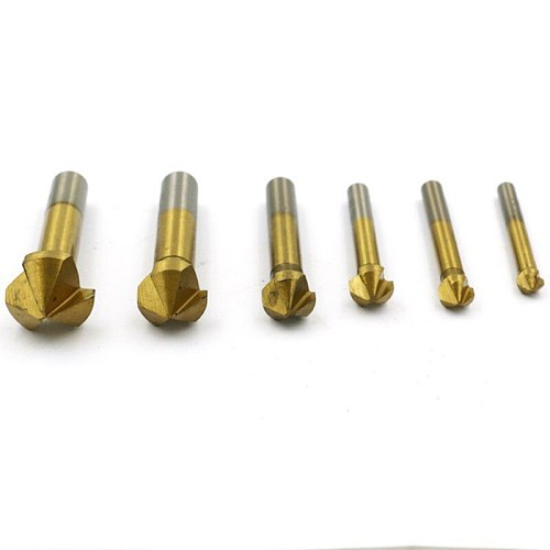 3 Flute Countersink Drill Bit 6.3 8.3 10.4 12.4 16.5 20.5mm 90 Degree Titanium Plating Wood Cutter Metal Chamfer Cutting Tool