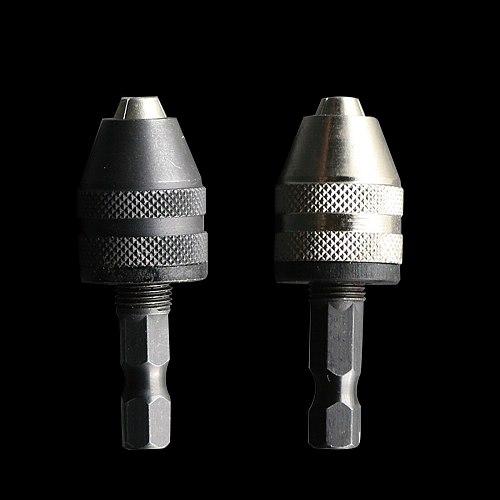 Electric grinder drill chuck 1/4  6.35mm Keyless Chuck Driver Drill Bit Hex Shank Adapter Converter Power tool accessories