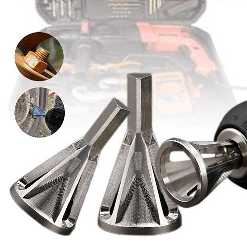 Deburring External Chamfer Tool Metal Remove Burr Tools Grinding Tools Repairs Damaged Bolts Tightens the Nuts Hot Sale