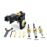 3 in 1 Adjustable Doweling Jig Woodworking Pocket Hole Jig With 8/15mm Drill Bit For Drilling Guide Locator Puncher Tools