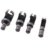 4 x  Wood Plug Cutter Cutting Woodwork Power Tool Drill Bit Set 6mm 10mm 13mm 16mm S08 Wholesale&DropShip