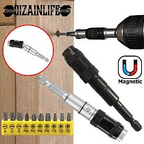 Magnetic Screw Drill Tip Drill Screw Tool Black Silver Durable Locking Bit Quick Change Holder Drive Guide Drill Bit Extensions