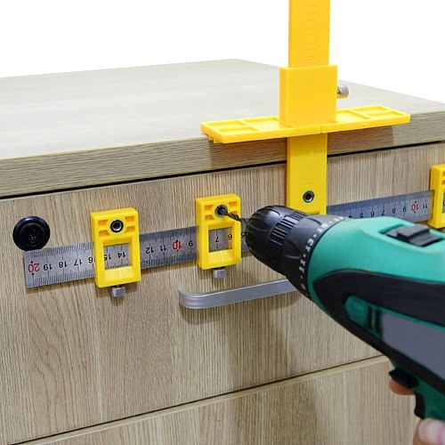 Drill Guide Detachable Hole Punch Jig Tool Center Drill Bit Guide Set Sleeve Cabinet Hardware Locator Wood Drilling Punch Tool