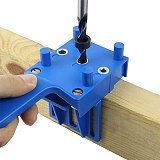 Pocket Hole Jig Kit 6/8/10mm Woodworking Angle Drill Guide Set Hole Puncher Locator Jig Drill Bit Set For Diy Carpentry Tools