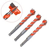 1/4  Hex Shank Forstner Drill Bits Wood Drilling Hole Saw Cutter Spiral Reaming Self Centering Electric Rotary 16/18/20/22/25mm
