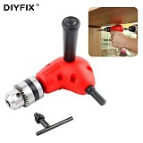 DIYFIX Electronic Drill Right Angle Bend Universal 1.0-10 mm Drill Chuck 90 Degree Angle Drill Extension Shank Accessories