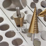 5/9/15steps 4-32mm High Speed Steel Straight Grooved Conical Drill Bit HSS Metal Step Drill Bit For Woodworking Thin Iron Steel