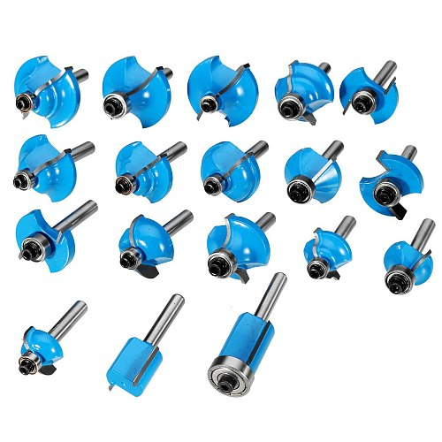 ALLSOME 35pcs 1/4inch Shank Router Bit Set Tungsten Carbide Tip Router Wood Cutter Tool Set Milling Cutters for Woodworking
