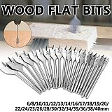 6-40mm Flat Drill Long High Carbon Steel Wood Flat Drill Set Woodworking Spade Drill Bits Durable Woodworking Tool Sets