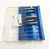 Mayitr HSS Center Drill Bits Set Precision Combined Countersinks Kit 60 Degree Angle 5/3/2.5/2/1.5/1mm for Lathe