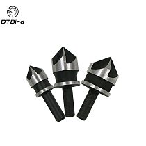 3Pcs 90 Degree 1/4 Hex Shank Countersink Drill Bit 5 Flute 12-19mm Woodworking Counter Sink Chamfering Debur Tool Set   DT6