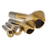 Xltown High quality HSS 4pcs Drill Bit Taper Hole Cutter Steel/Aluminum/PVC Plate Countersunk Head Drill Chamfer Set Metal bit