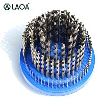 LAOA 100 Drills High Speed Steel Whole Grinding Twist Drill Bits Set Spiral Drills Drilling on Cu Steel Plastic Cast Iron Al Etc