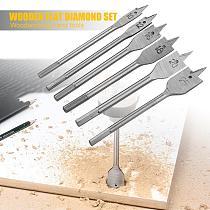6pcs/set 10-25mm HSS Hardwood Wooden Flat Shovel Drill Bit Woodworking Tool Spade Drill Bits Carpenter Hand Tools
