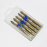 TASP 5 pcs 6mm Ceramic Tile Cutter Glass Drill Bits Set Titanium Coated with 1/4  Hex Shank Power Tools Accessories