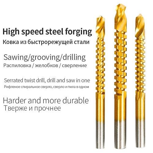 Cobalt Drill Bit Set Spiral Screw Metric Composite Tap Drill Bit Tap Twist drill bit set multi-function metal specia
