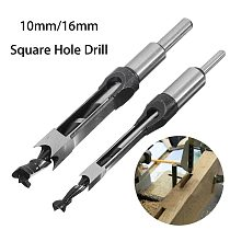 10mm/16mm Professional Hollow Square Hole Saw Mortiser Chisel Auger Drill Bit Woodworking Tool Woodworking square hole drill
