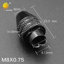 JIGONG chuck for tools M8x0.75 chuck Universal mini grinding chuck 0.3 x3.2 mm collet adjustable electric grinding