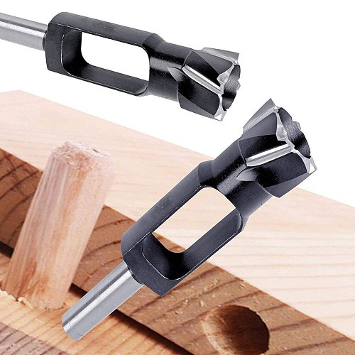 1pcs High Speed Steel Dowel Plug Cutter Tenon Drill Bit Wood Working Furniture Making Carpentry Tool for Wood Plug Cutting
