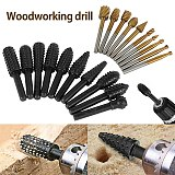 20pcs Steel Rotary Burr Set 1/4in 1/8in Shank Wood Grinding Rasp Drill Bits Tool Rotary Burrs Router Bits Rotary Cutter Files