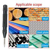Golden/Black Drill Automatic Center Punch Metal Glass Breaker Spring Marker Drill Bit Tools Starting Holes Fast Drilling