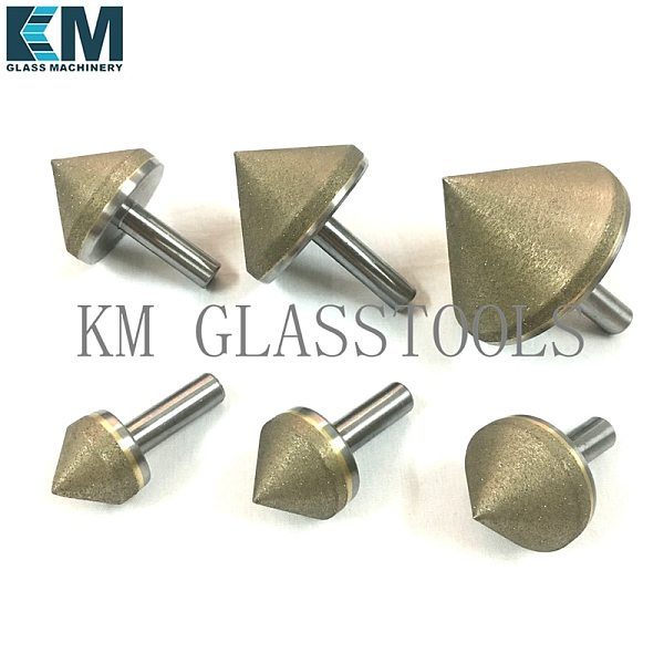 Free Shipping!Diameter 10/15/20/25/30/35/40/45/50/55/60mm,Straight shank Diamond countersink complete cone for glass arrissing.