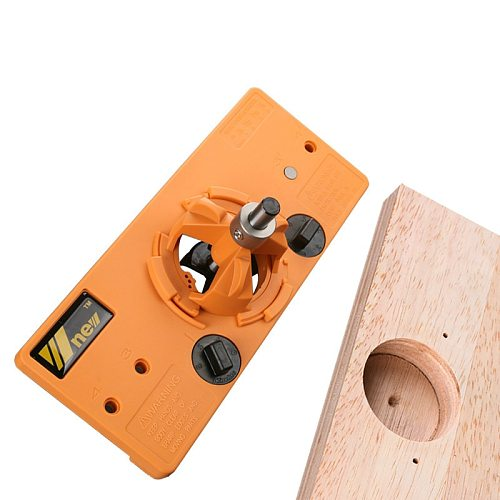 NEW Concealed 35MM Cup Style Hinge Jig Boring Hole Drill Guide + Forstner Bit Wood Cutter Carpenter Woodworking DIY Tools