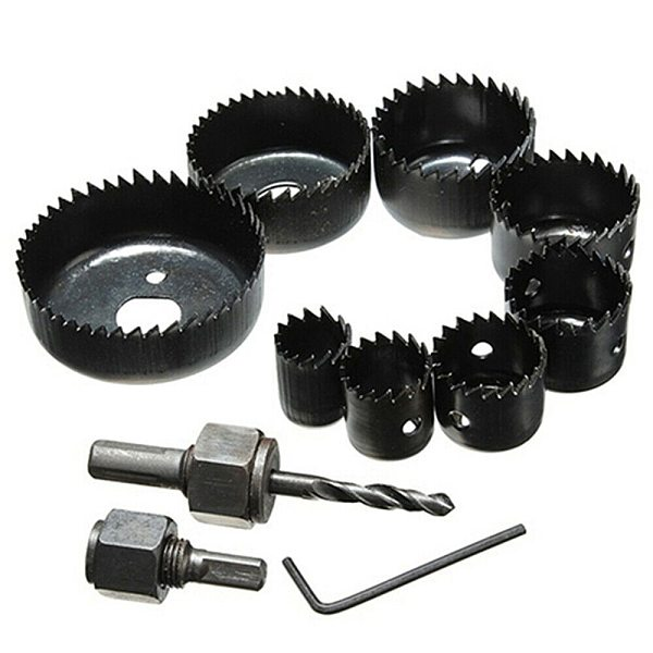 Woodworking Opener Hole Saw Bit Cutting Drilling Tool Set With Round Saw For Gypsum Board / Wood Opening