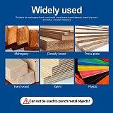 NINDEJIN 5pcs forstner bit set carpenter 15-35mm cemented carbide carbon steel woodworking hole saw set wood drill bits