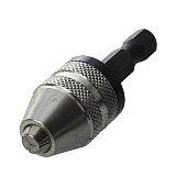 CNIM Hot Silver+Black 6mm Keyless Drill Bit Chuck Quick Change Adapter Converter Hex Shank Mini Drill Chuck
