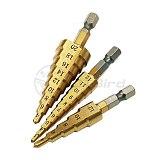 1pcs 3-13mm HSS Titanium Coated Stepped Drill Power Tools Carbide Drill Mini Drill Bit Set 3-12mm 4-12mm 4-20mm DT6