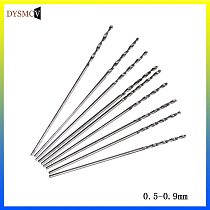 10 miniature carbide drills 0.5mm 0.6mm 0.7mm 0.8mm 0.9mm rotary drill