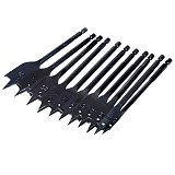 11Pcs 6-32mm Flat Drill Long High-carbon Steel Wood Flat Drill Set Woodworking Spade Drill Bits Durable Woodworking Tool Sets