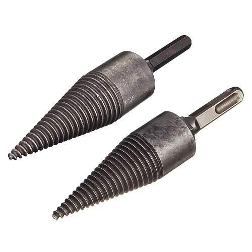 Firewood Splitter Machine Drill Wood Cone Reamer Punch Driver Drill Bit Split Hex / Square Shank Drilling Tools