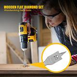 6pcs/set 10-25mm HSS Durable Carpenter Hand Drill Bits Woodworking Flat Shovel Drill Bit Fast Penetration Spade Drilling