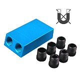Upgraded 15 Degree Pocket Hole Jig Replaceable 6 8 10mm Drill Guide Blue Magnetic Dowel Jig Kit Wood Drill for Wood Jointing