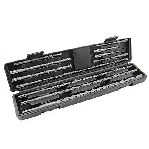 11PCS/Set Tungsten Carbide Tip Hammer Drill 5-20mm SDS Plus Masonry Hammer Drill Bits Set with Tool Case