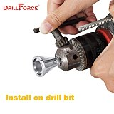 DRILLFORCE Deburring External Chamfer Tool Stainless Steel Remove Burr Drill Bit Tools For 8-32 bolts