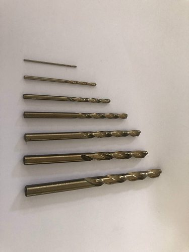 7 7.0 7.1 7.2 7.3 7.4 7.5 7.6 7.7 7.8 7.9 8mm HSS-CO M35 Cobalt Steel Straight Shank Twist Drill Bits For Stainless Steel