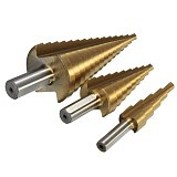 High Quality 3pcs High Speed Steel HSS Drill Bit Set Round Shank Hex Titanium Coated Wood Para Metal Drilling Tool