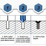 6PCS  Countersink Chamfer Drill Bit 1/4  Hex Shank 90 Degree Wood Chamfering Cutter Nano Blue Coated Chamfer Tool