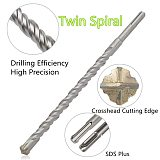350mm 450mm 460mm Tungsten Carbide Tip Hammer Drill SDS Plus Masonry Hammer Drill Bit 12mm 14mm 16mm diameter