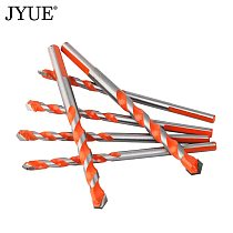 JYUE professional hard alloy drill bit for glass tile concrete hole opener diameter 3/4/5/6/8/10/12 mm twist drill bit